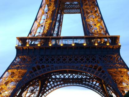 Eiffel Tower  looking at us